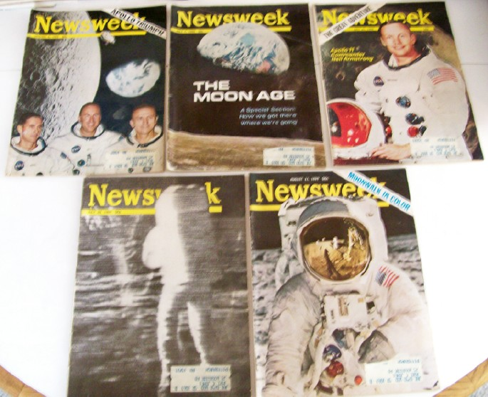 Vintage 1969 NASA Apollo Moon Walk Magazine Cover Features