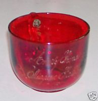 1901 Niagara Falls Souvenir Ruby Flash Glass Coffee Cup
