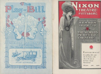 1909-1910 Nixon Theater Pittsburgh PA Playbill Lot
