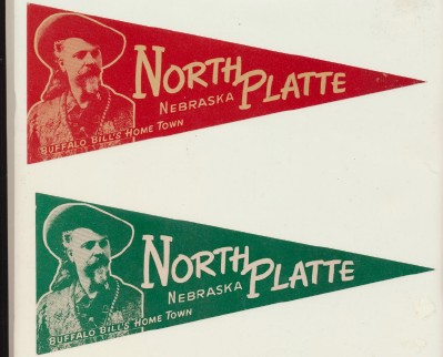 Vintage Unused Water Dip Pennant Decals - North Platte Nebraska