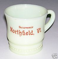 Northfield Vermont Souvenir Custard Glass Cup