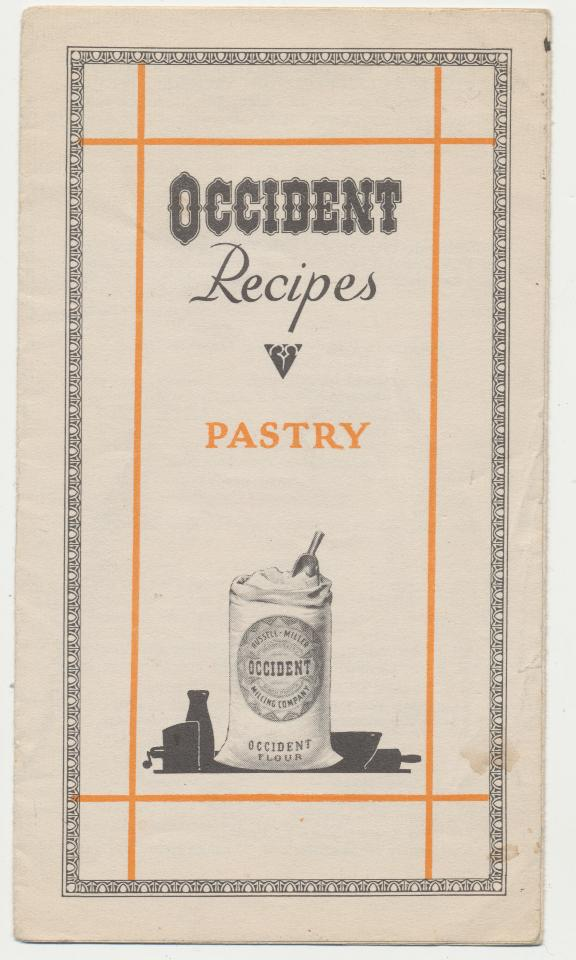 1929 Occident Flour Advertising Pastry Recipe Brochure