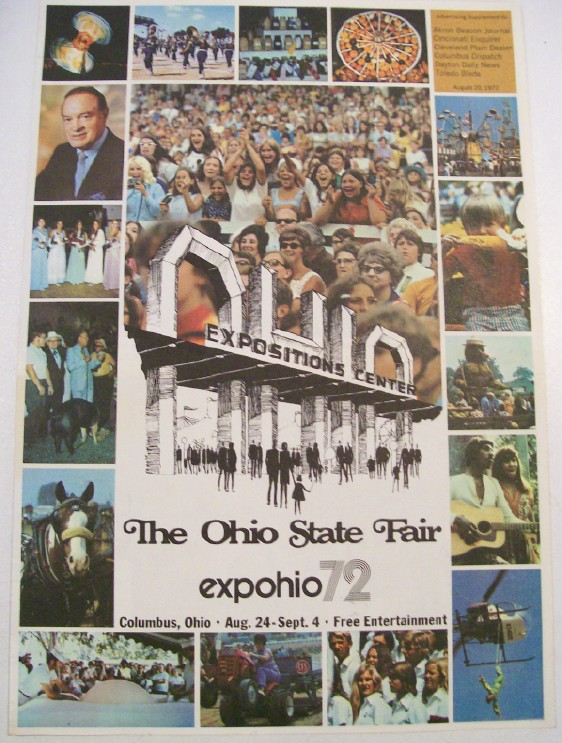 Ohio State Fair Expo Ohio 72 Program - Bob Hope Kenny Rogers +++