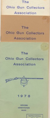 1978-81 Ohio Gun Collectors Assoc Constitution & Rule Books