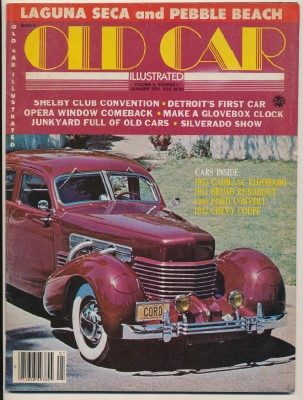 January 1979 Old Car Illustrated - Cord Cover