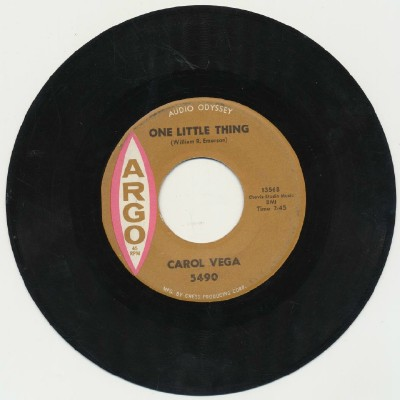 One Little Thing / A Little White Lie - Carol Vega