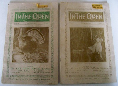 1915 PA Wildlife Magazines - Field Dog Trials + Conneaut Lake