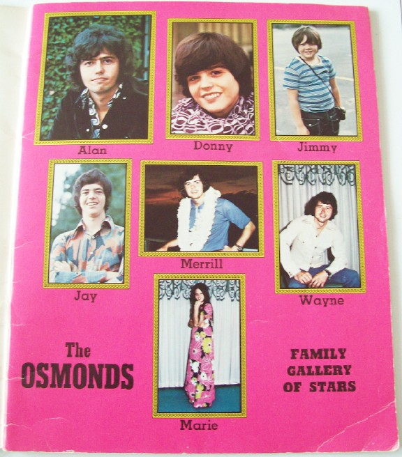1973 Osmond Activity Book - Donny & Marie & Family