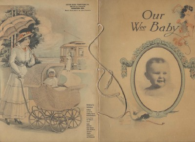 1918 Wicker Baby Carriage Advertising New Baby Book