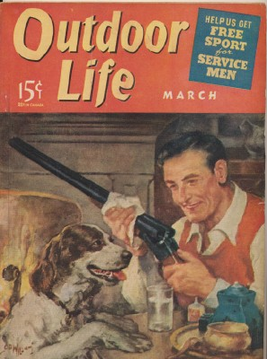 March 1941 Outdoor Life - Artist Signed Hunting Dog Cover