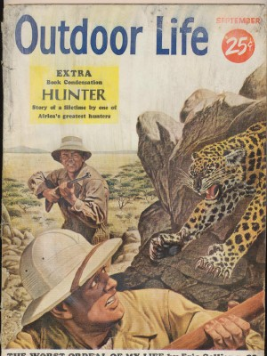 September 1953 Outdoor Life - Leopard Hunting Cover