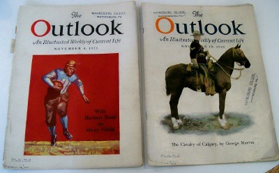 Vintage 1925 College Football & RCMP - Outlook Magazines