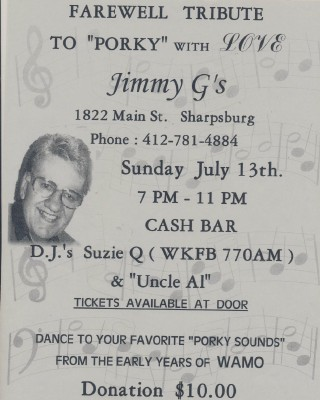 Farewell Tribute Poster - Porky Chedwick - Pgh Radio Pioneer