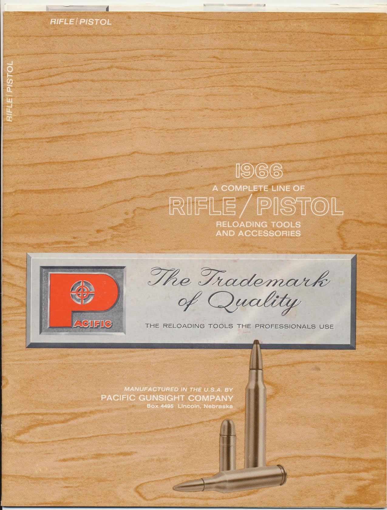 1966 Pacific Rifle/Pistol Reloading Tools Dealer Trade Catalog