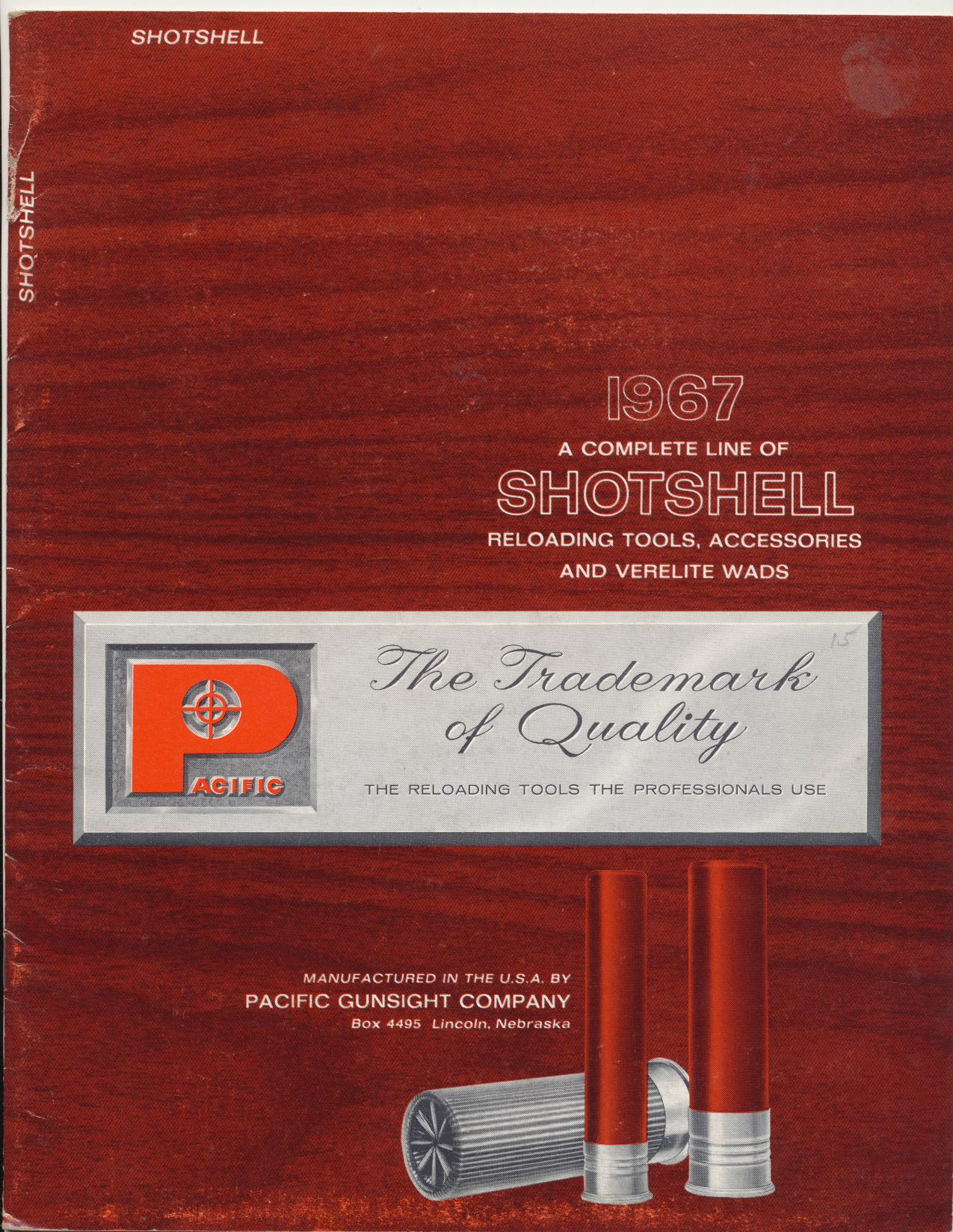 1967 Pacific Gunsight Shotshell Reloading Dealer Trade Catalog