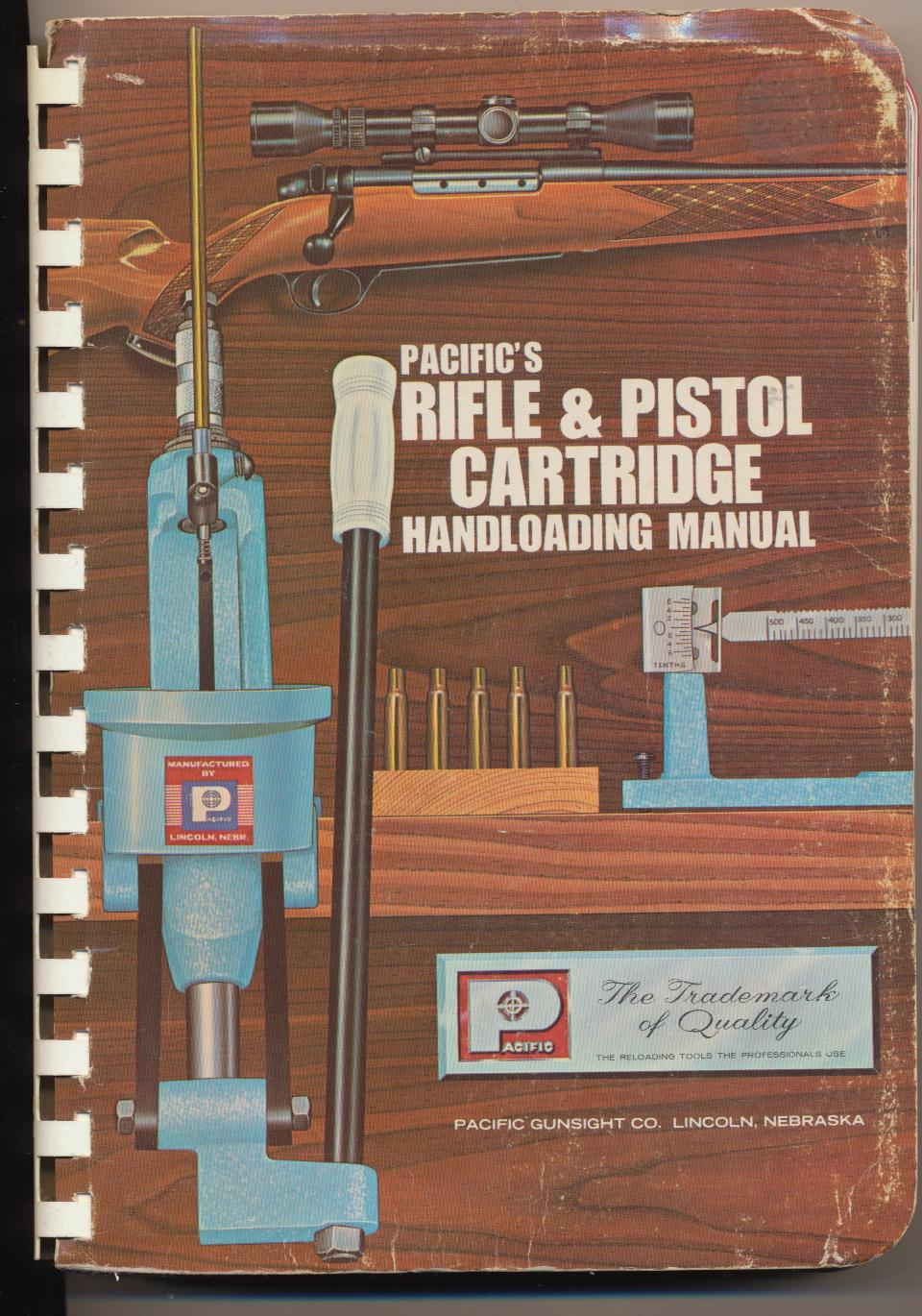 1968 Pacific's Rifle & Pistol Cartridge Handloading Manual