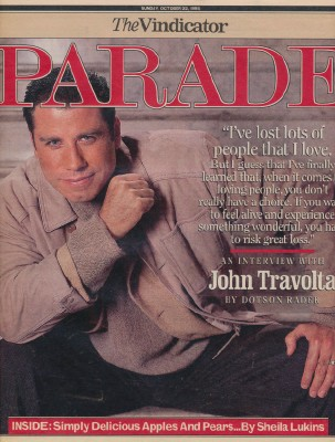 1995 Kevin Costner & John Travolta Parade Mag Cover Features