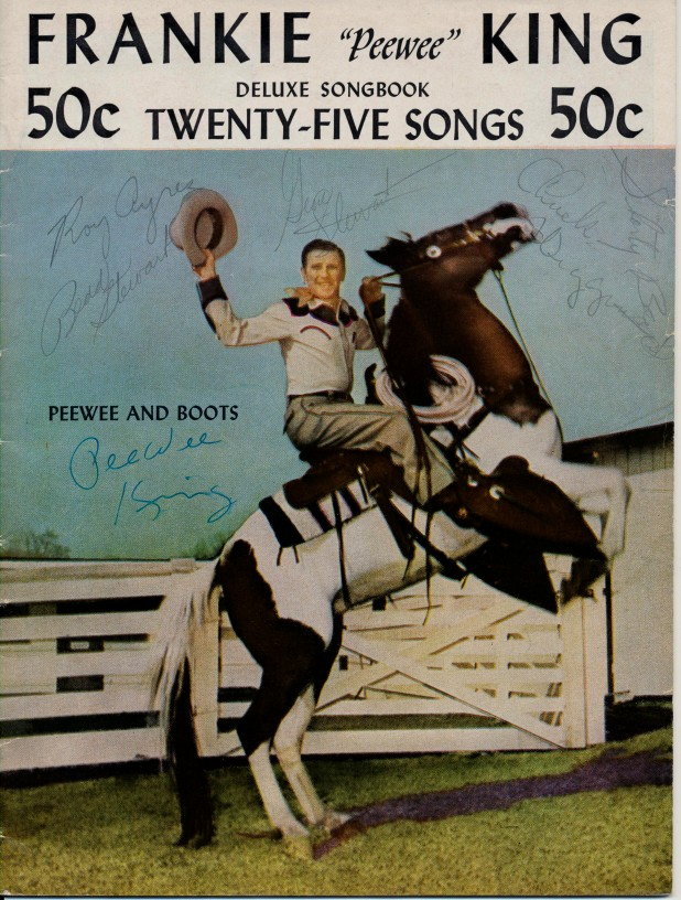 Pee Wee King & Band Guitar Songbook Signed With 6 Autographs