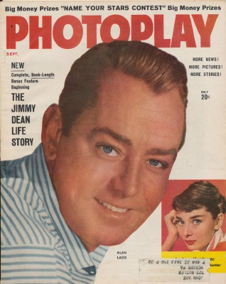 September 1956 Photoplay - Alan Ladd Cover