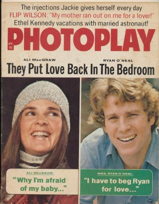 April 1971 Photoplay - Ali MacGraw & Ryan O'Neal Cover