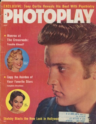 July 1957 Photoplay - Elvis Presley & Marilyn Monroe Cover