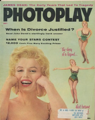 October 1956 Photoplay - Marilyn Monroe Cover