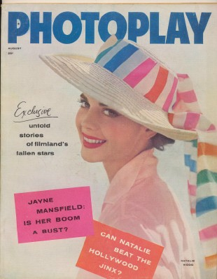 August 1957 Photoplay - Natalie Wood Cover