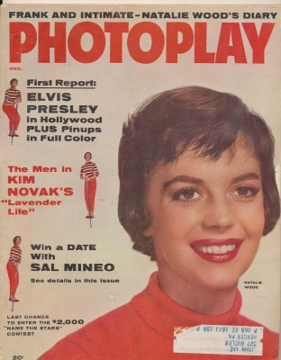 December 1956 Photoplay - Natalie Wood Cover