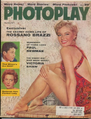 Aug 1956 Photoplay - Sheree North Paul Newman Sal Mineo +++