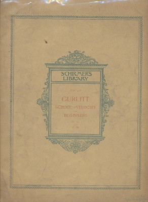 1895 School Of Velocity For Beginners Piano Sheet Music Book