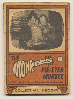 1967 Monkees Flip Book - Pie-Eyed Monkee