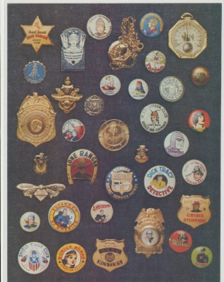 Vintage Mag Features - Political & Superhero Pin Back Buttons