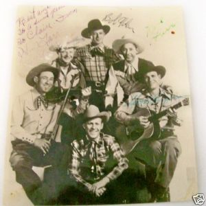 Sons Of The Pioneers Autographed Photo - 6 Signatures