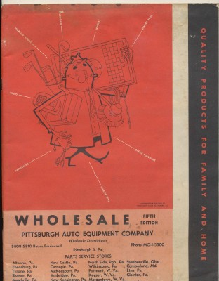 Vintage 1950s Wholesale Distributor Products Catalog