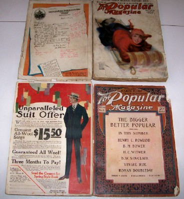 1917 Popular Fiction Magazine Pair Incl Albert Payson Terhune +