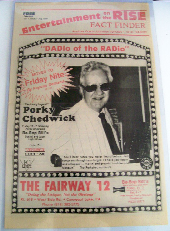 1991 Porky Chedwick Conneaut Lake Appearance Advertising Poster