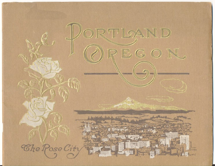 1910s Portland Oregon Photo History Book Curt Teich Artgravure