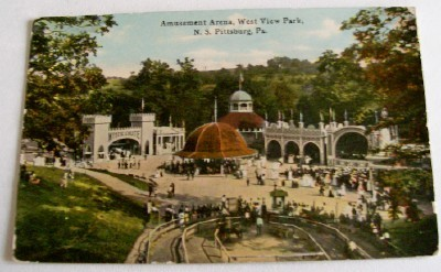 1900 West View Park Defunct Amusement Park PC With Rides
