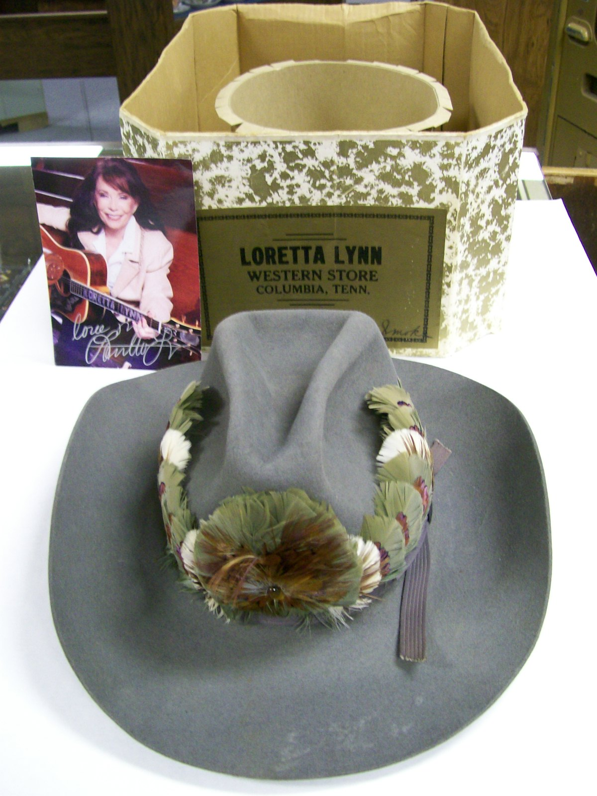 Loretta Lynn Personal Hat from a long time ago. Original box