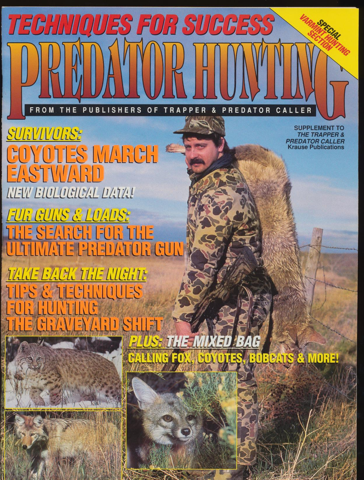 Fall 1995 Predator Hunting Magazine - Fox Coyote Bobcat +
