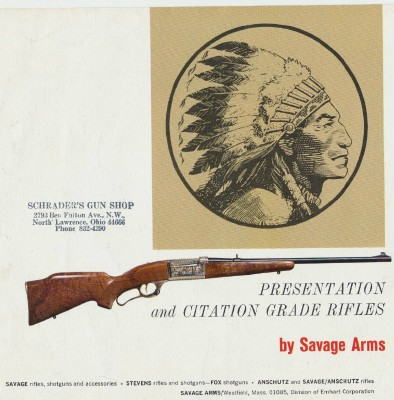 1972 Savage Presentation & Citation Grade Rifles Adv Brochure