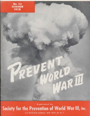Summer 1958 Prevent World War III Magazine