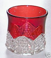 Vintage Ruby Flash Glass Tumbler - Purist - Not Souvenir