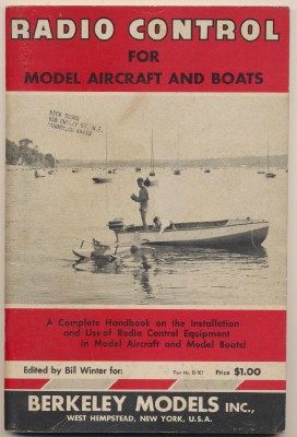 1954 Radio Control Model Airplane & Model Boat Instruction Book