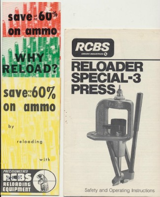 RCBS Reloading Press & Ammo Advertising Brochure Lot