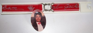 1984 Michael Jackson Red Belt With Silver Glove - Mint - NWT