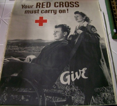 Vintage World War II WWII Red Cross Poster