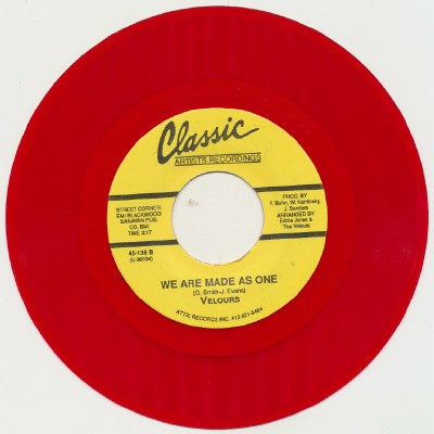 I Apologize/We Are Made As One-Velours- Red Wax 1 of 900