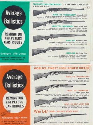 Vintage Ballistics Charts For Remington & Peters Cartridges