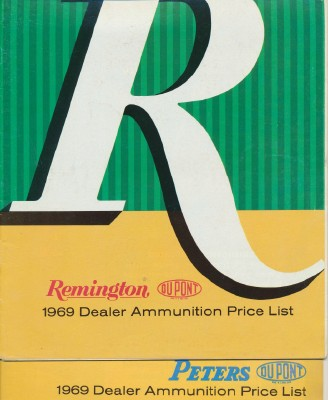1969 Remington & Peters Ammunition Price Lists